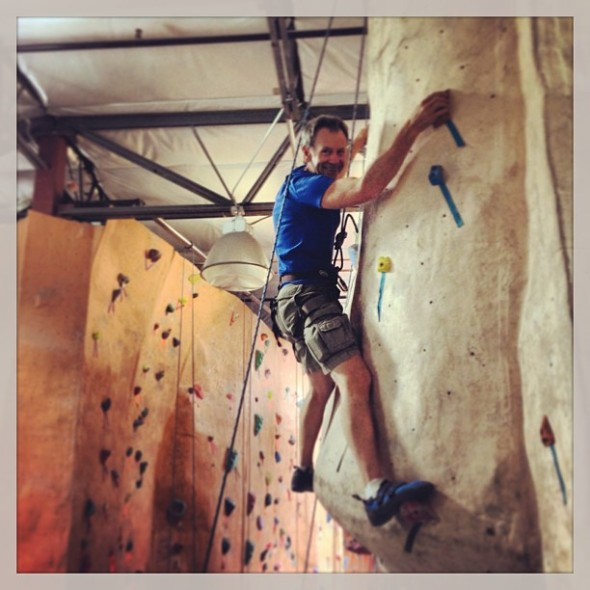 I really like climbing.