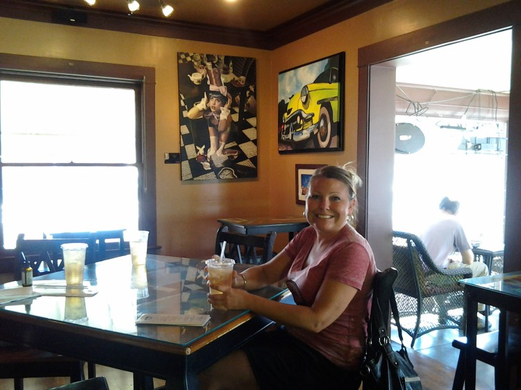 The place is called Hob Nobs and is downtown Phoenix...We can see at least one happy patron...