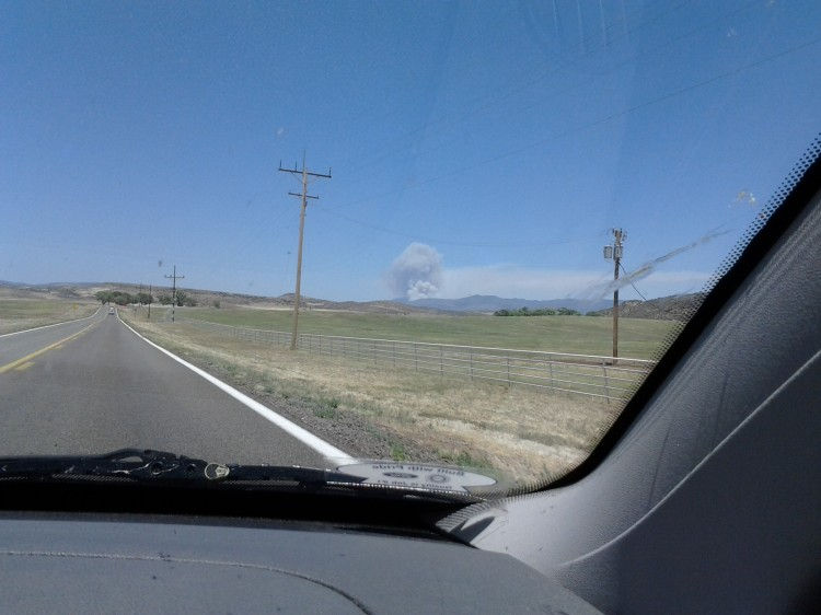 We were on our way to Prescott the first day of this fire...