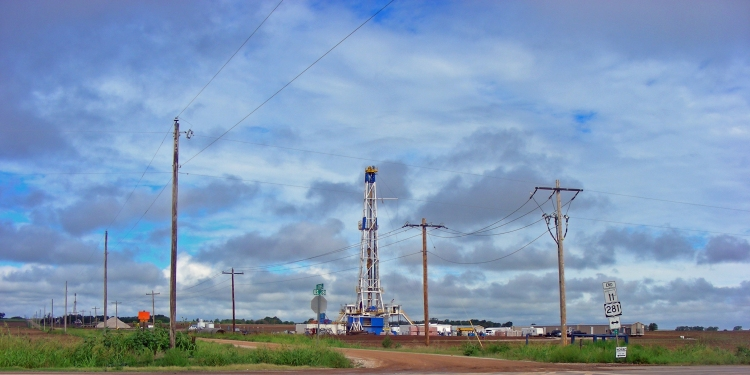 These rigs dot the landscape. They are exceeded only by windmills...