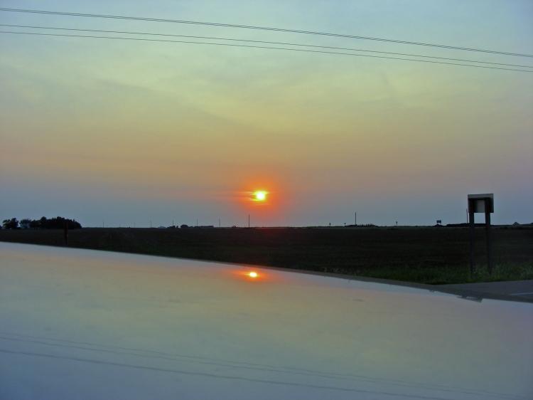 Sunset in Kansas...