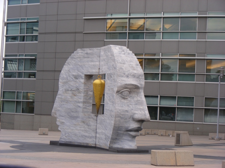 """Norm took this picture of a """"weird looking head."""" At  least that's what she called it."""