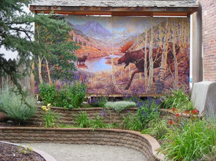 It was a little rainy and overcast, but we still strolled through the town of Creede. This painting was really cool...