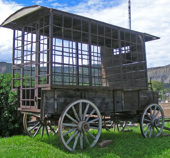 This is the original paddy wagon that was used in the movie, True Grit...