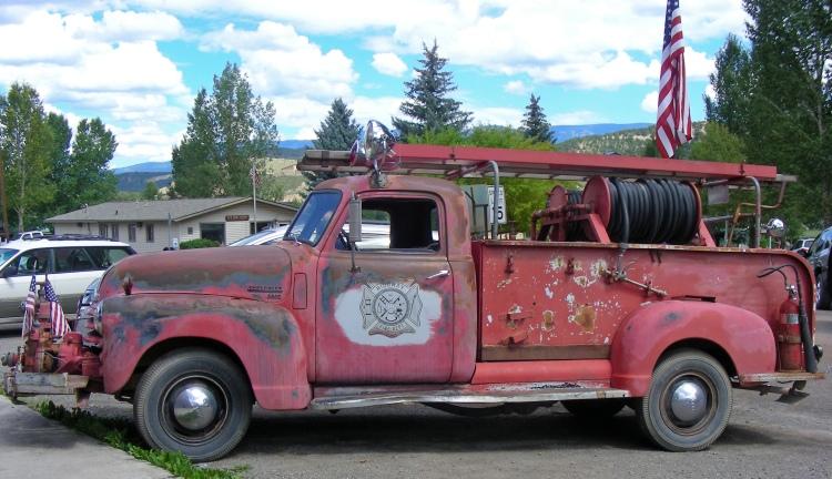 Vintage fire truck, sweet...