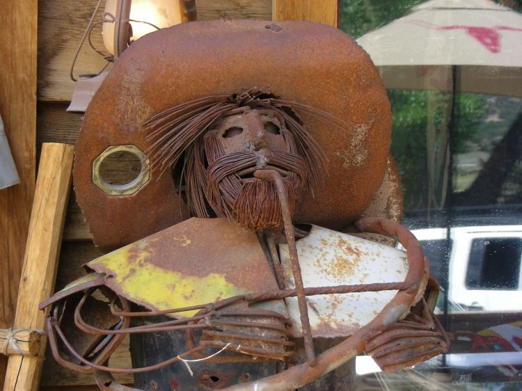 """This hombre was outside of the """"True Grit"""" restaurant..."""