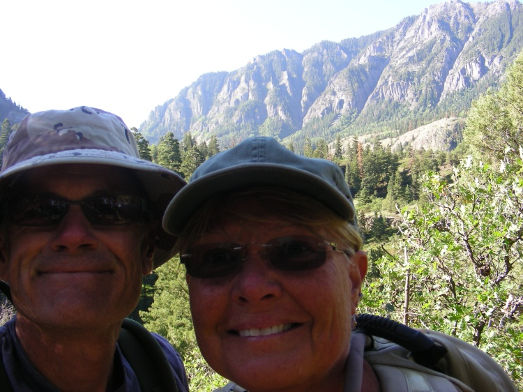 Here we are in Ouary on our first hike, short and sweet, just 4 miles at 9,000 feet in altitude. Only a 900 foot gain, or so it was written...