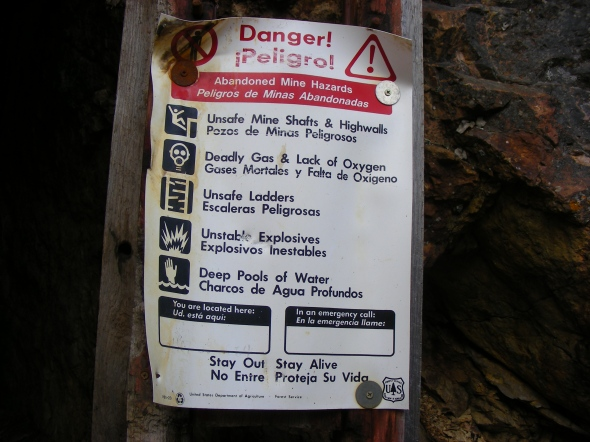 This all the things that you are suppose to do when encountering old abandoned mine sites...