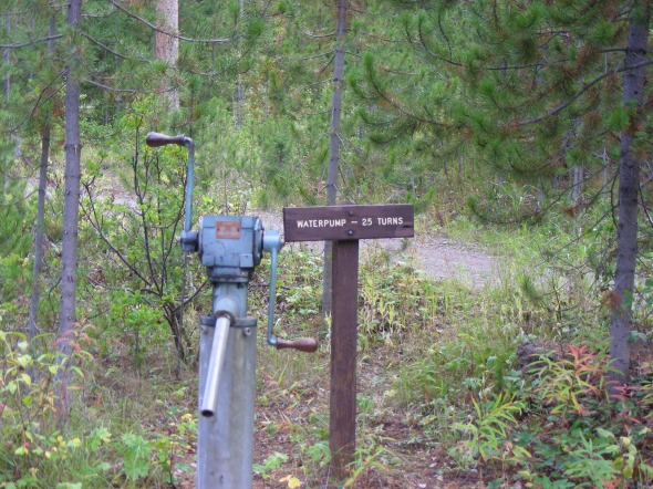 We scored another great campsite in the Bridger-Teton national forest. This was a cool water pump, but the water was not drinkable...