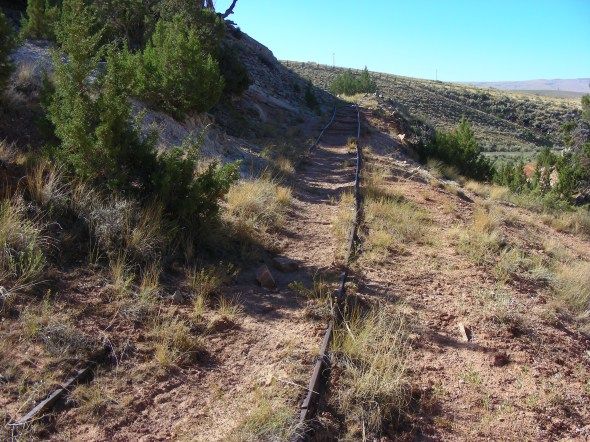 Some old railroad tracks for hauling rocks from a mine...
