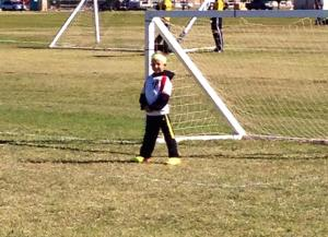 We got the privilege to watch Leo in one of his last soccer games, and it was quite a game. Here he is playing goalie, after scoring 4 or 5 goals as a forward. He also scored from his goalie position...
