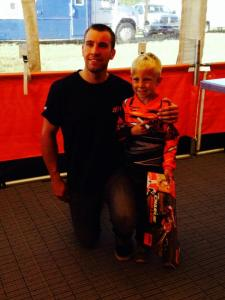 This is Leo with the race winner and over all champ, Charlie Mullins...