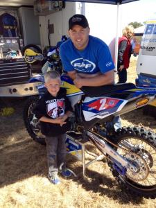 Leo with eight time national champ, Mike Lafferty. Which his Dad met in Texas at a race when Paul was a teenager...