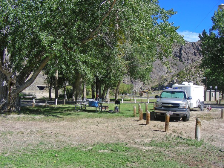 Our campsite. Due to needing some mail forwarded, we spent a few days in this great place...