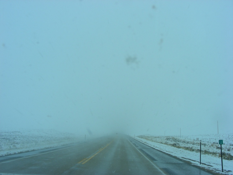 This is what the drive to Casper looked like. Blowing snow, fog and cold temperatures. The Lord kept us safe and conditions improved as we arrived for the night. The RV park was very nice and made for a relaxing evening...