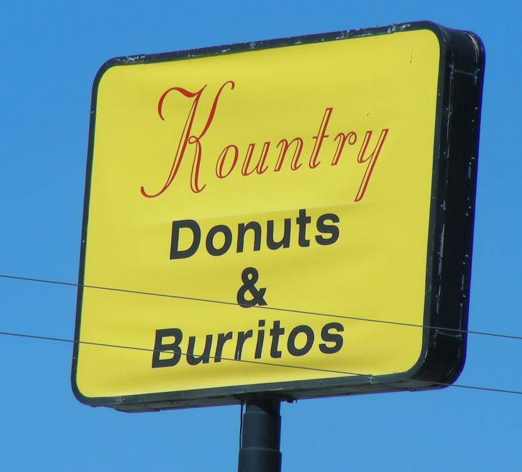 In Dumas Texas we were getting fuel when I saw this sign. I like signs. I thought a lot about this one. The best of American food, and the best of Mexican food...I really did not know that they went together...