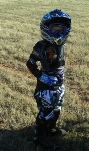 I think, just maybe, someday, this guy will be doing wheelies for some little dirt bike fan...