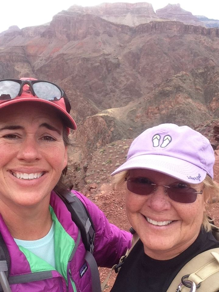 Norm with her hiking coach, Kelly....