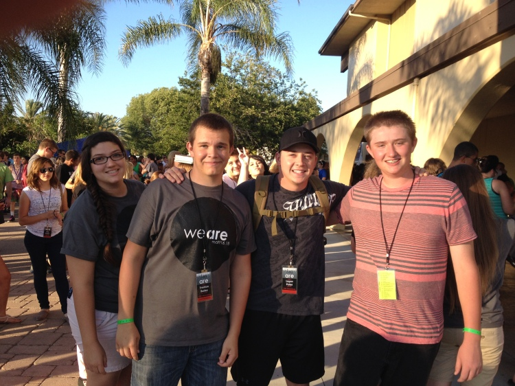 Just part of our gang, Allie, Trenton, Logan (our BMOC) and Stephan...