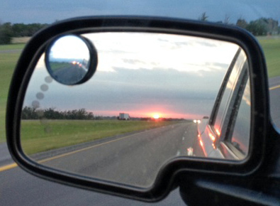 Sadly, sunrise heading home to Arizona, leaving my beautiful bride with her home on wheels in OKC...